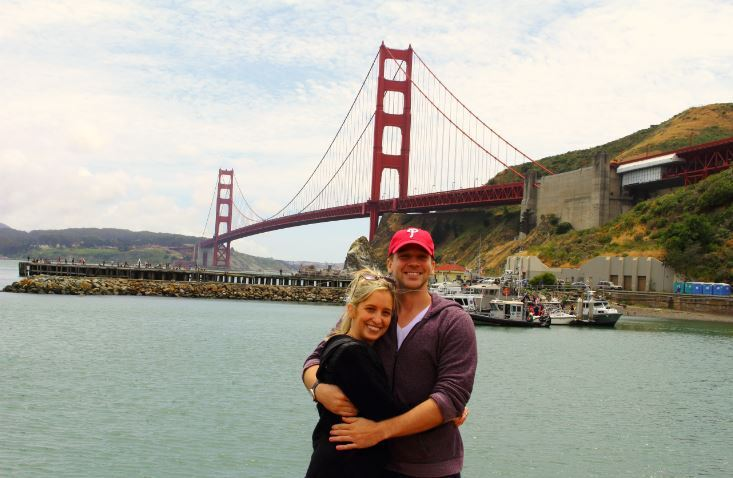 Quick photo stop at the Golden Gate Bridge